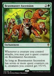 MTG-x4-Beastmaster-Ascension-Commander-2016-RARE-Magic-the-Gathering-NM-M-SKU280