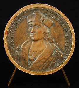 Alerte Médaille Henri Tudor Vii Roi D'angleterre D'ap Jean Dassier Xviiie England Medal