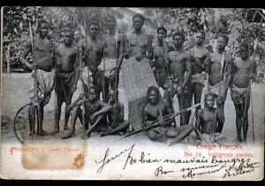 BANGUI-CONGO-Francais-ETHNIQUE-INDIGENE-avec-ARMES-avant-1904
