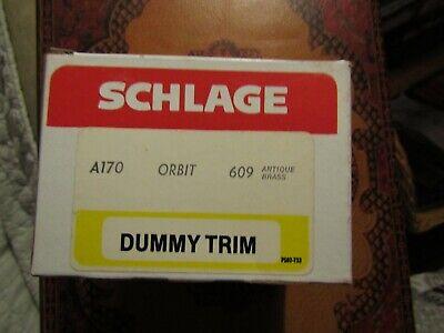 Schlage FA70 ORBIT 609 Antique Brass Dummy Trim Knob