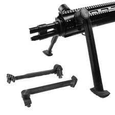 """3 Level Bipod Adjustable 8""""-11"""" for Side 20mm Picatinny Rail Adapter Mount"""
