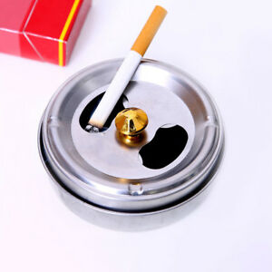 BL-Home-Car-Smoking-Ashtray-Lid-Rotation-Fully-Enclosed-Stainless-Steel-Strikin