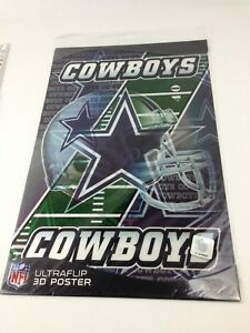 NFL-Ultraflip-Holographic-3D-Double-Image-Poster-DALLAS-COWBOYS-17-034-x11-034-New
