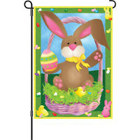 Easter Bunny Egg Chicks Basket Jelly Beans Garden Flag 18 X 12