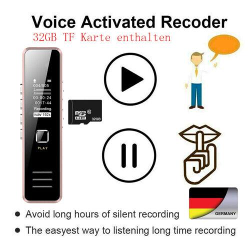 32GB Diktiergerät USB Digital Audio Voice Recorder Aufnahmegerät Sprachaufnahme