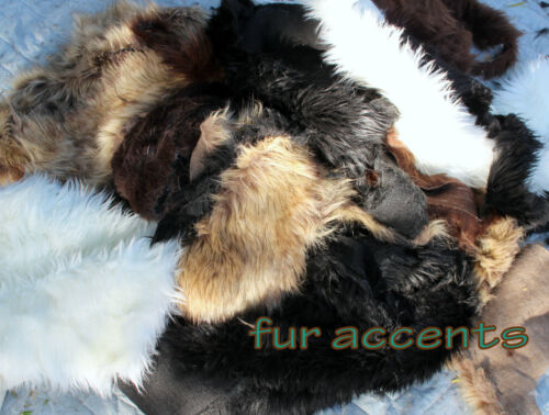 Plush Fur Rug Cutting Craft Samples Faux Fur Remnants Fabric Scraps  FIVE POUNDS