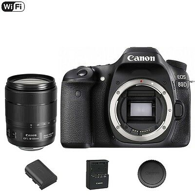 Canon EOS 80 D / 80D DSLR Camera + 18-135mm f3.5-5.6 IS NANO USM Lens
