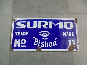 Vintage-Surmo-N-11-Bishan-Marchio-Porcellana-Smalto-Insegna
