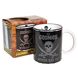 Goonies-Mug-Never-Say-Die-Pirate-Flag-Cup-Logo-Chunk-Sloth-Home-Kitchen