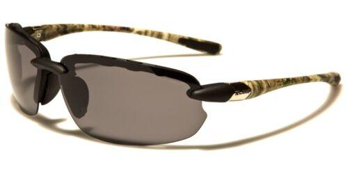 Sunglasses New Polarized Sport Shades Wraps Men Women Camoflauge Black PZ2486C