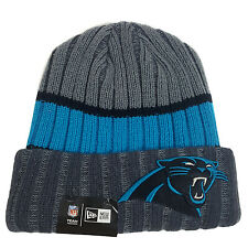 e2e2c10093a item 1 NFL CAROLINA PANTHERS New Era Stripe Chiller Cuffed Knit Hat -NFL  CAROLINA PANTHERS New Era Stripe Chiller Cuffed Knit Hat