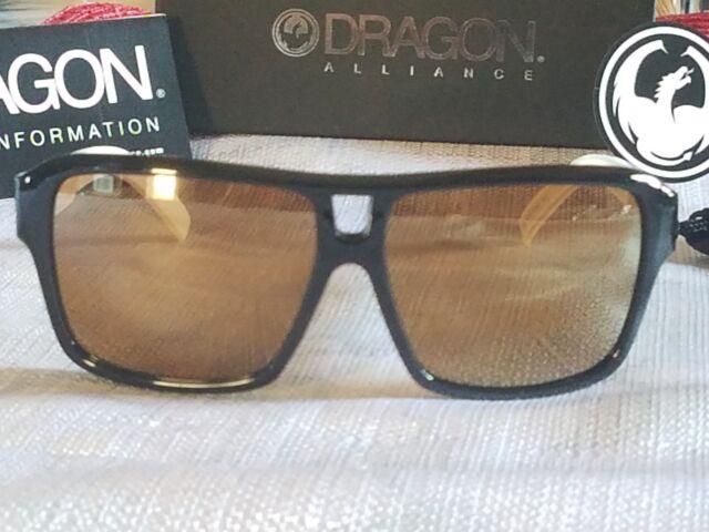 NEW Dragon The Jam White Gold Ion Mens Large Square Navigator Sunglasses Ret$130