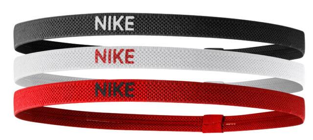 Black white universi Taglia unica Nike Elastico Hairbands Confezione ... e758afd353ce