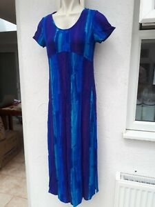 Richards-Ladies-Size-8-Petite-Blue-Mix-Maxi-Dress-Summer-Sun-Holiday-Fashion