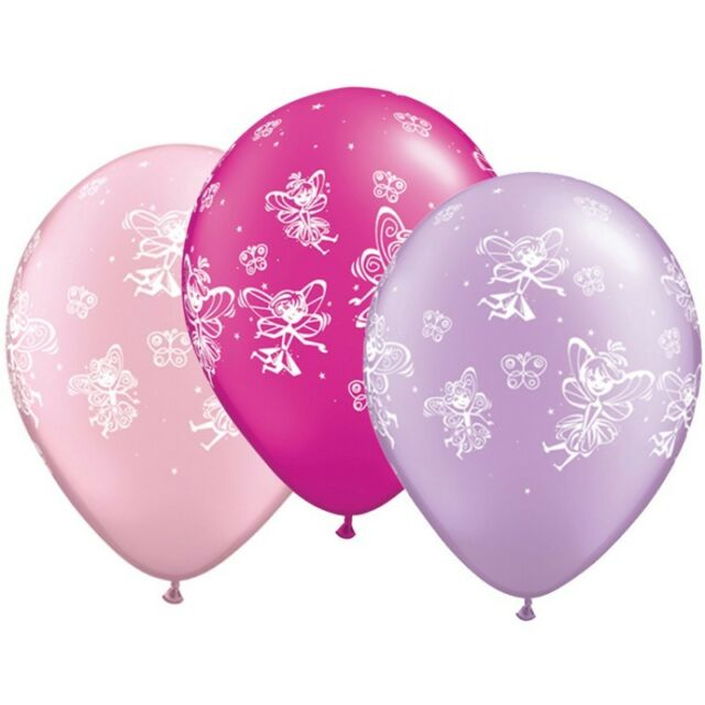 "20 x Fairies /& Butterflies Pink /& Lilac Qualatex 11/"" Latex Balloons"