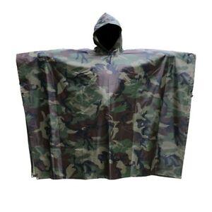 Impermeable-Camouflage-Poncho-pour-Pluie-Chasse-Peche-Randonnee-Nouveau