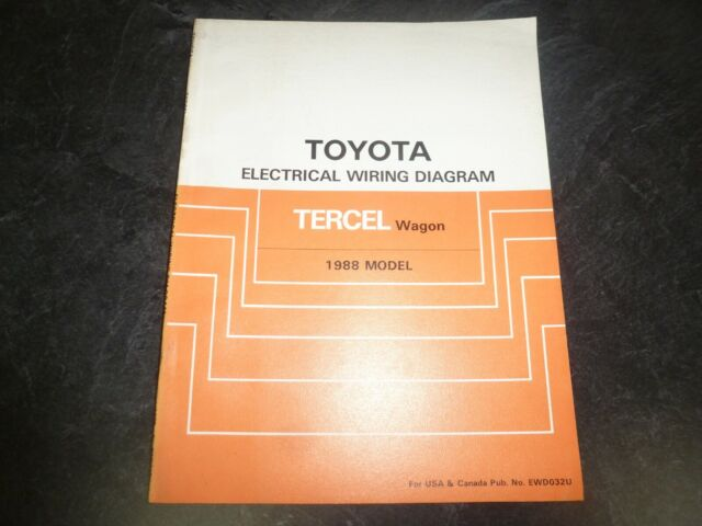 1988 Toyota Tercel Wagon Electrical Wiring Diagrams Manual Sr5 Deluxe Awd 1 5l
