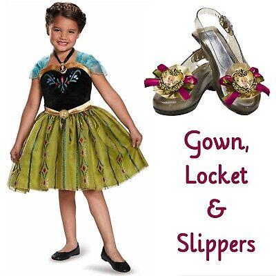 Disney Frozen ANNA CORONATION COSTUME ~ 4-6X Dress w ...