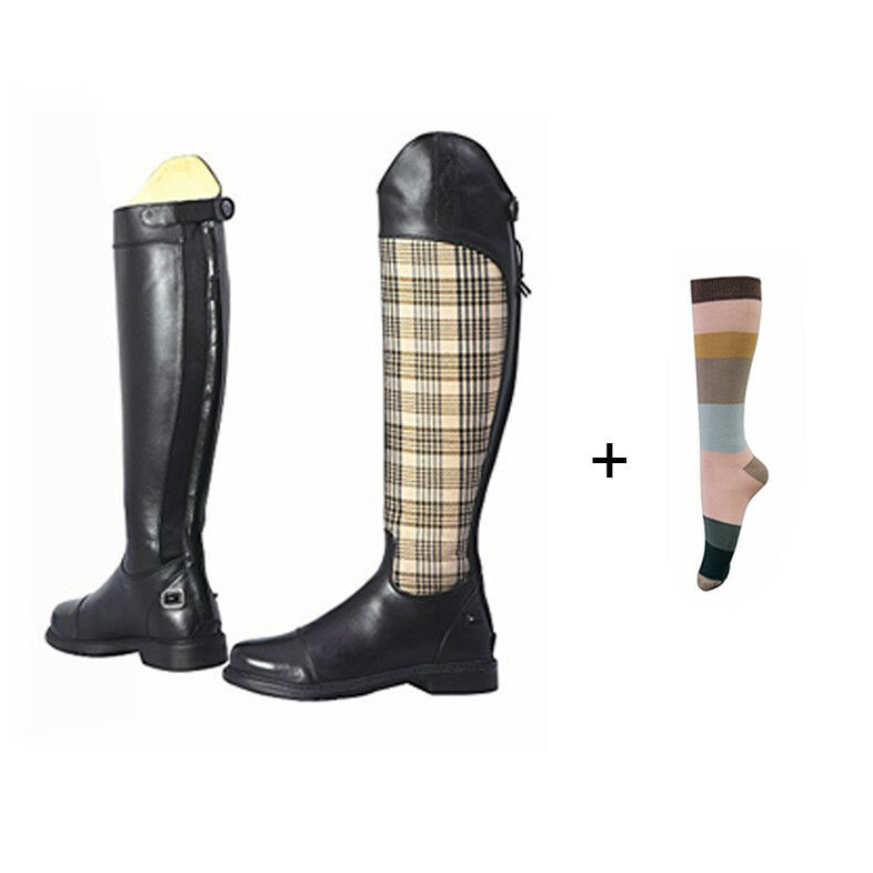 Baker donna Schooling Ttutti stivali with gratuito 6 Pairs Of Assorted Striped Socks...