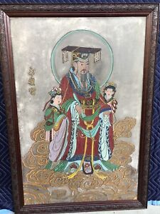 ANTIQUE-CHINESE-PAINTING-YELLOW-EMPEROR-HUANG-DI-LARGE-HUANGDI-OLD-CA-ESTATE