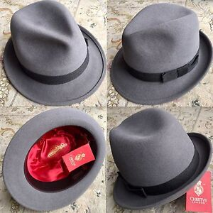 New Christys Of London Gents Fur Felt Silk Lined Hat Trilby Size