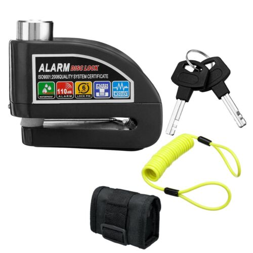 2m//6ft Reminder Cable Alarm Lock Bag Motorcycle Bike Security Anti-theft Lock