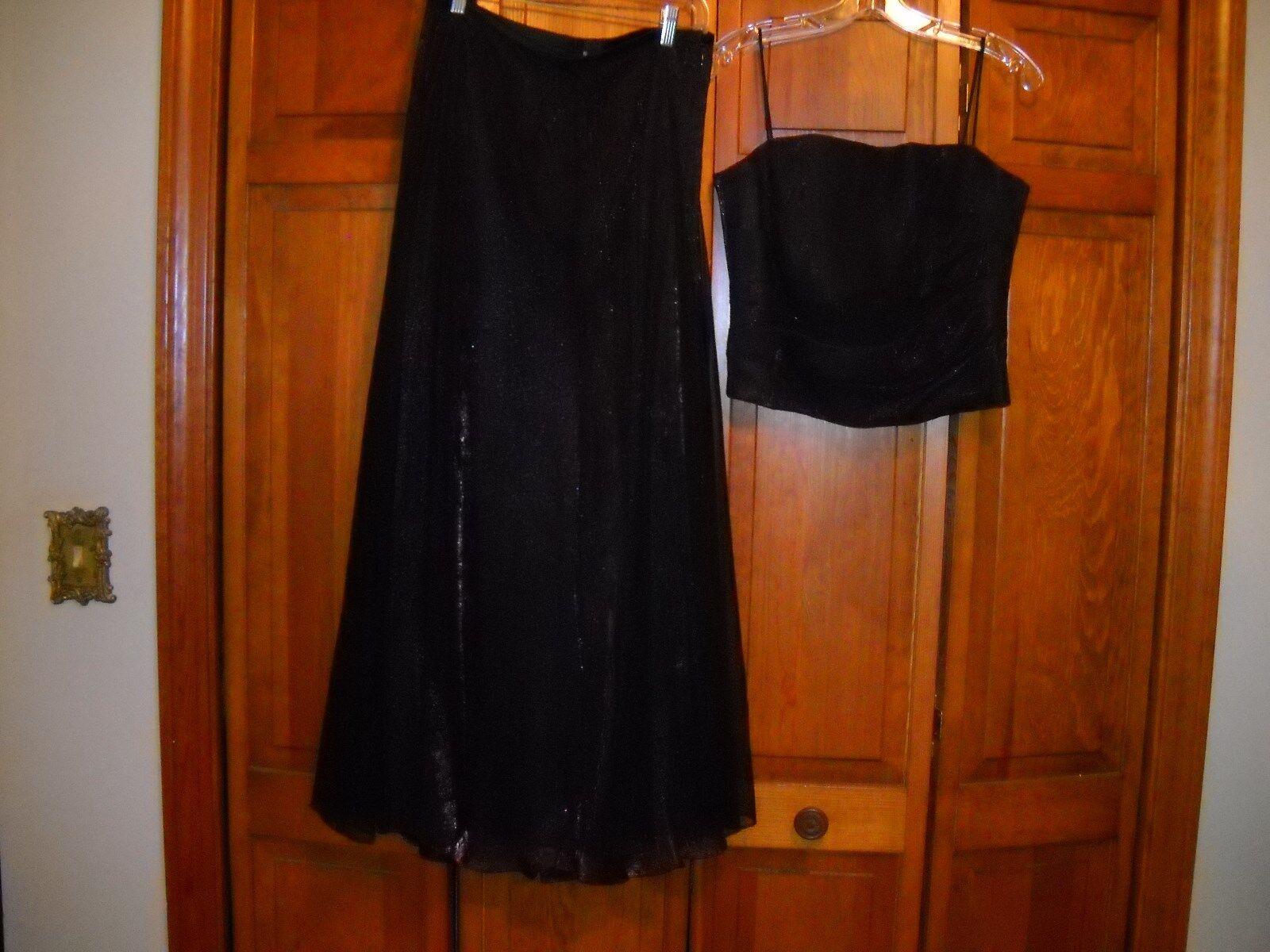 Dani Max Black/Purple Polyester 2 Piece Formal Gown Sz 12 Juniors