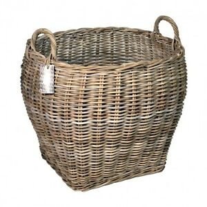 GREY-RATTAN-OVAL-LOG-BASKETS-TWO-SIZES-STORAGE-HOME-HAMPERS-LAUNDRY-LOGS-TOYS
