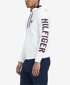 tommy hilfiger hoodie mit logo white s