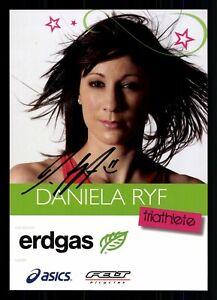 Daniela Ryf Autogrammkarte Original Signiert Triathlon ## G 29320