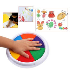 6 Colors DIY Ink Pad Stamp Finger Painting Craft Cardmaking Large Round For Kids