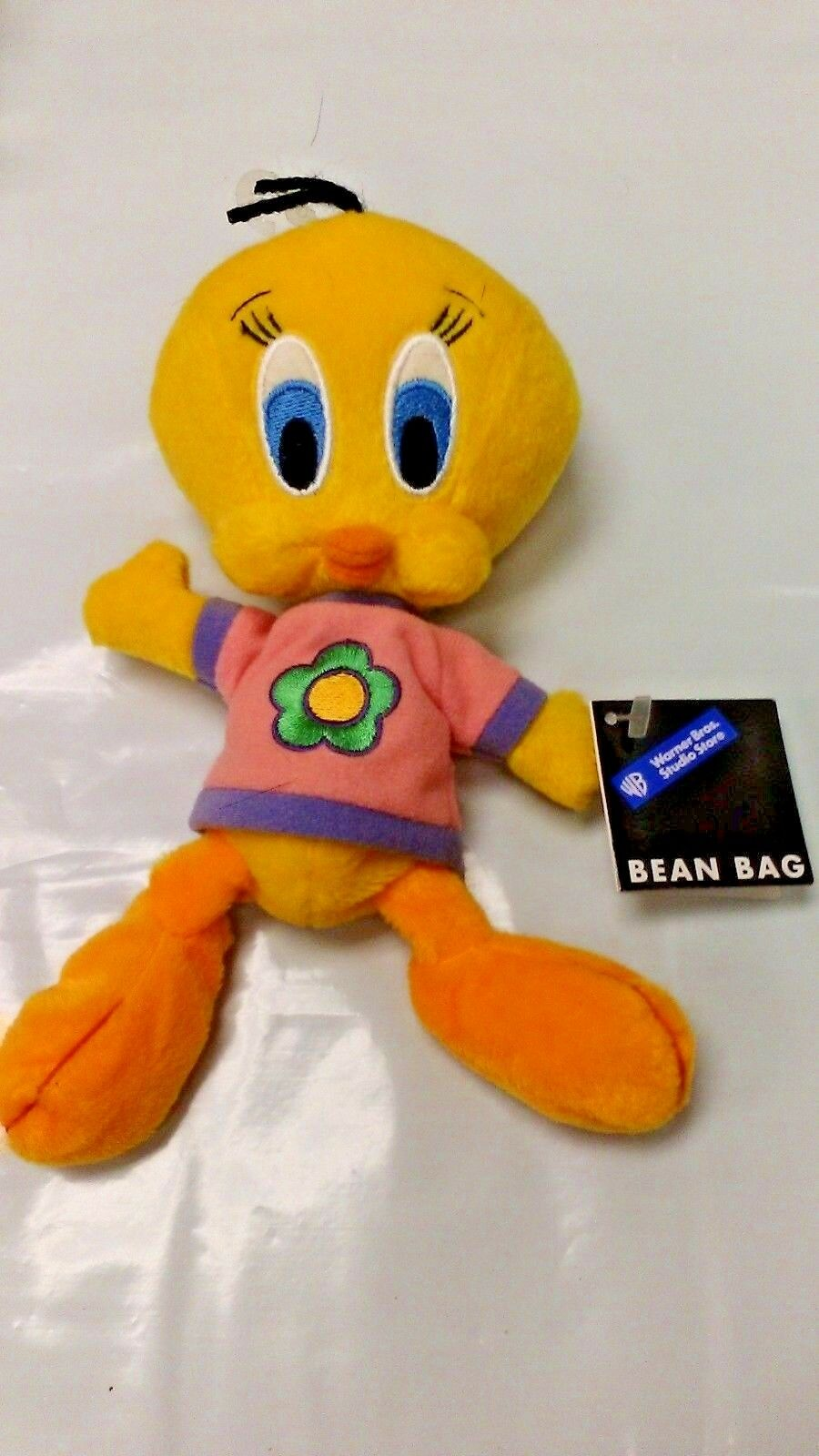 WARNER STORE BROTHERS STUDIO STORE WARNER TWEETY FLOWER SHIRT BEAN BAG NEW WITH TAG OFFICIAL 78e037