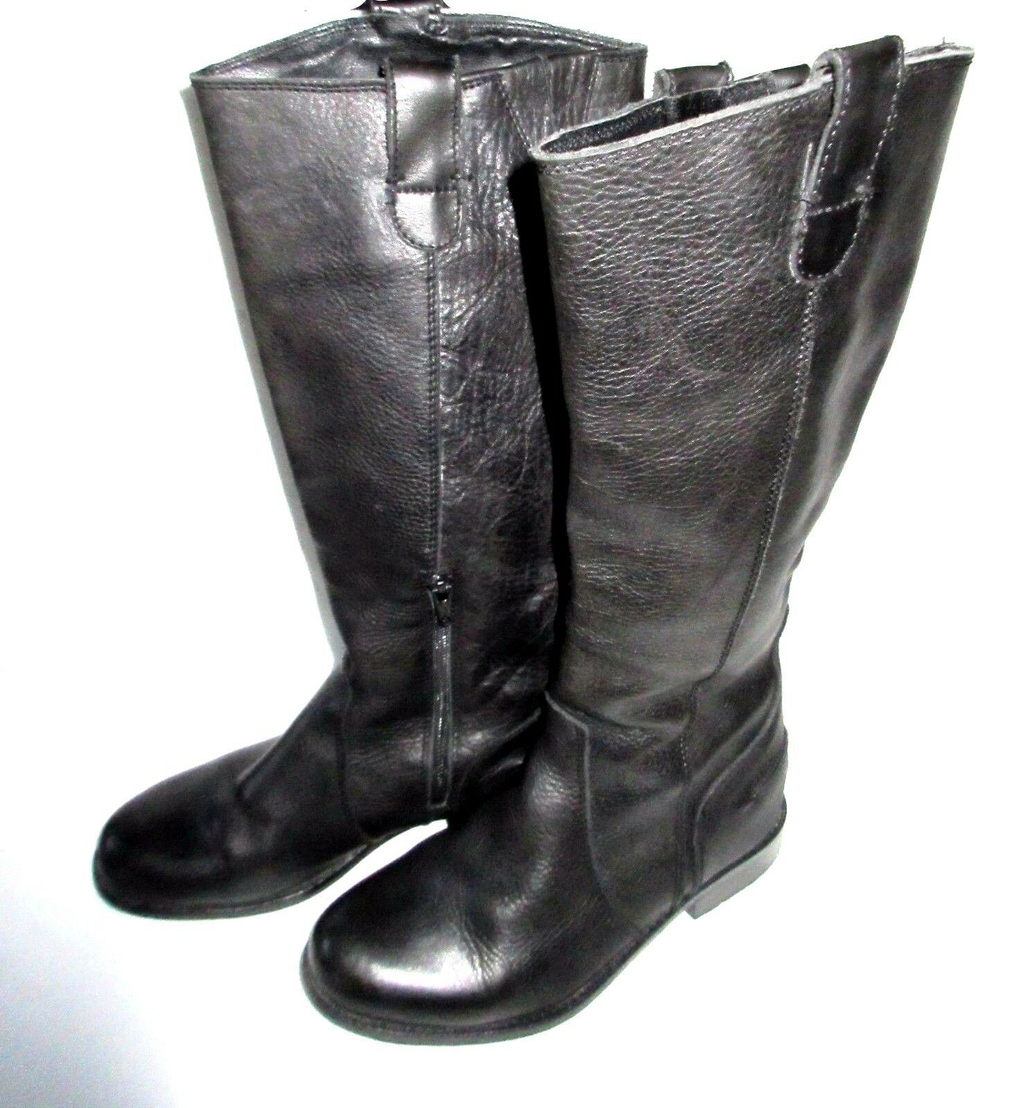 Women's Riddle Mid Calf Black Leather Boots  Size 6M