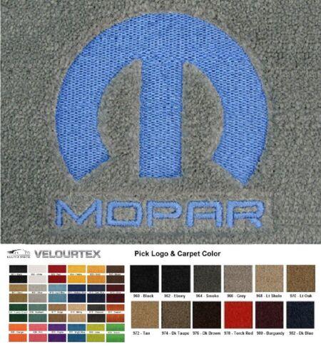 Lloyd Mats Dodge Custom Embroidered Mopar Logo Velourtex Front Floor Mats