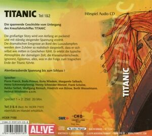 BODO-FRANCK-PIERRE-PRIMUS-TITANIC-TEIL-1-amp-2-2-CD-NEW