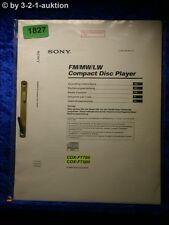 Sony Bedienungsanleitung CDX F7700 / F7500 CD Player (#1827)