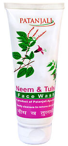 60-gm-Herbal-Neem-amp-Tulsi-With-Aloe-Vera-Face-Wash-From-Patanjali