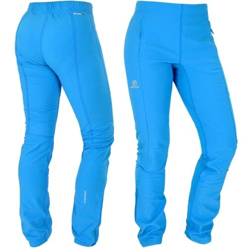 Salomon Damen Softshell Hose Wanderhose Ski Langlauf Outdoor wasserdicht blau