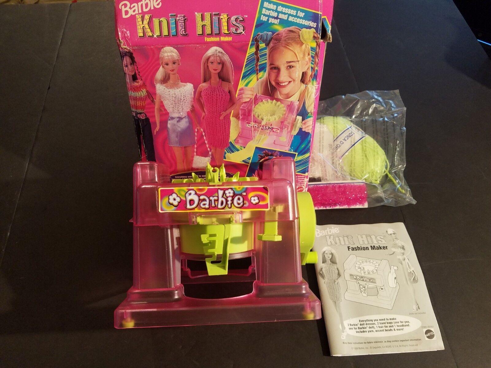 Neuer Offene Box Vintage 1998 Barbie Strick Hits   Mattel Modischer Hersteller
