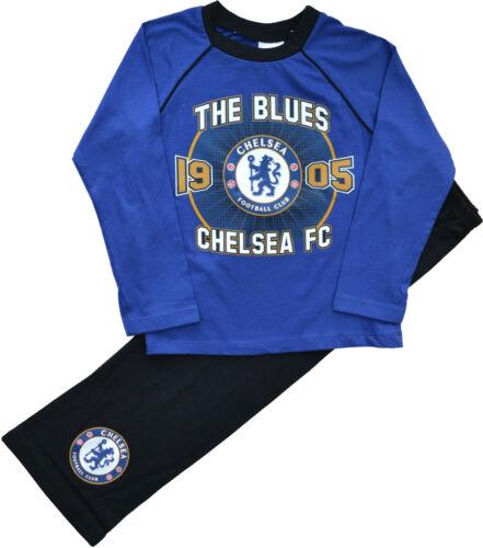 CFC48 Boys Girls Chelsea Football Club Pyjamas Ages 4 to 12 Years
