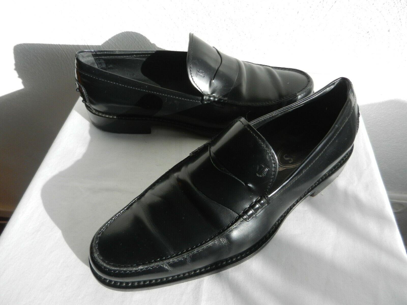 Tod´s Herren Loafer Halbschuhe schwarz Glattleder Gr. 9,5 Eu 44    | Stabile Qualität