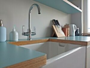 Birch Plywood And Formica Kitchen Worktops Edges Sanded And Oiled Ebay