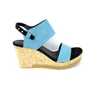 Humanoid Damen Schuhe Damenschuhe Wedge Sandaletten Kork Sandalen Leder 40 Neu