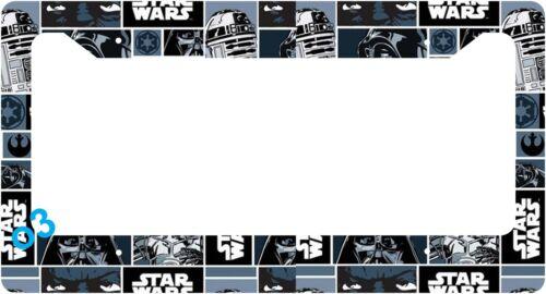 Star Wars Darth Vader R2D2 License Plate Frame Aluminum Car Auto
