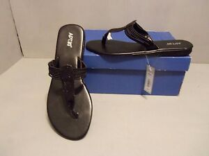 Apt 9 Women S Glitter Thong Wedge Sandals New Black Sizes
