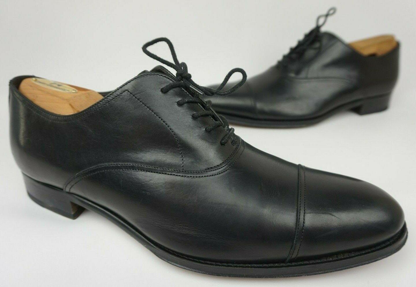 To Stiefel New York Brandon Captoe Oxford Schwarze Lederschuhe Größe 9.5
