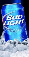 Bud Light Can On Ice Cornhole Board Game Wrap Decal Set