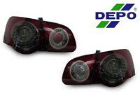 Depo 06-10 Vw Passat B6 4 Piece Cherry Red Smoke Rear Led Tail Lights Pair