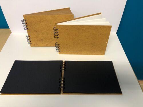 Libro de bosquejo de cinta Pad Scrapbook álbum de tapa dura Blanco Negro Kraft a5 a4 a3