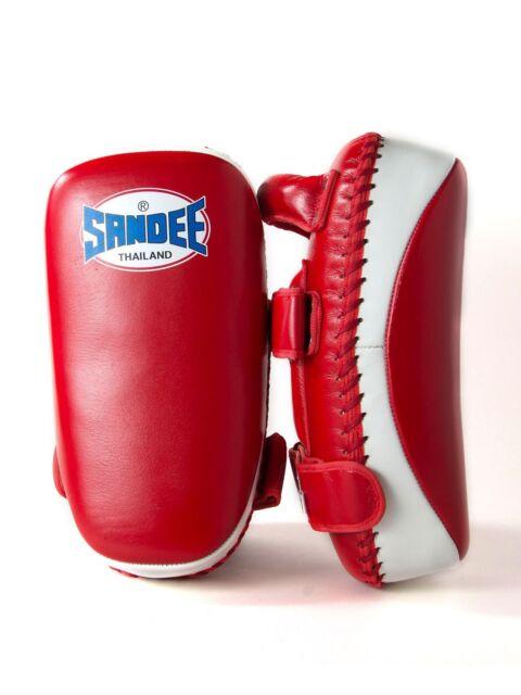 get cheap 2ef38 a02ba Sandee Curved Kick Pads Strike Shield Focus Leather MMA Muay Thai Kickboxing